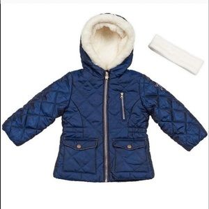 NWT OshKosh B'Gosh Blue with White Faux Fur good